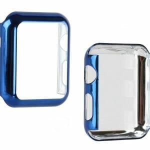 Case Cover Screen Protector blauw 4H Protected Knocks Watch Cases voor Apple watch voor iwatch 2-007