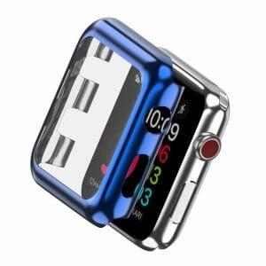 Case Cover Screen Protector blauw 4H Protected Knocks Watch Cases voor Apple watch voor iwatch 2-008