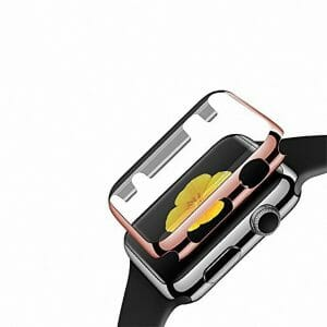 Case Cover Screen Protector rose goud 4H Protected Knocks Watch Cases voor Apple watch voor iwatch 2-001