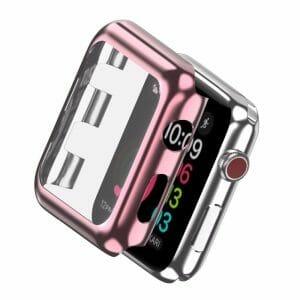 Case Cover Screen Protector rose goud 4H Protected Knocks Watch Cases voor Apple watch voor iwatch 2-005