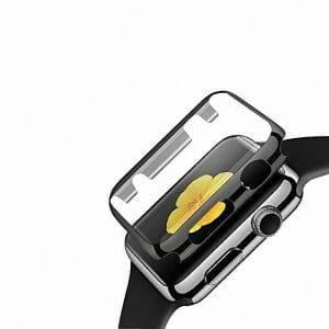 Case Cover Screen Protector zwart 4H Protected Knocks Watch Cases voor Apple watch voor iwatch 2-004