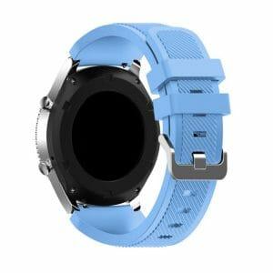 Bandje Voor de Samsung Gear S3 Classic / Frontier - Siliconen Armband / Polsband / Strap Band / Sportbandje - licht blauw