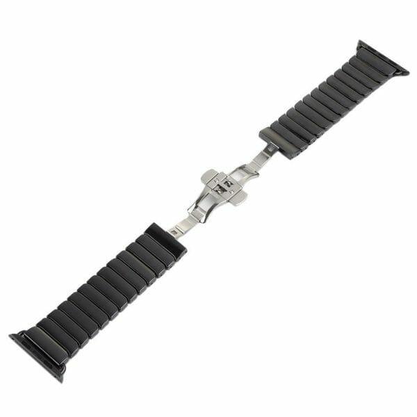 Keramische vervangend bandje voor Apple Watch iwatch Series 1-2-3 42mm zwart-001