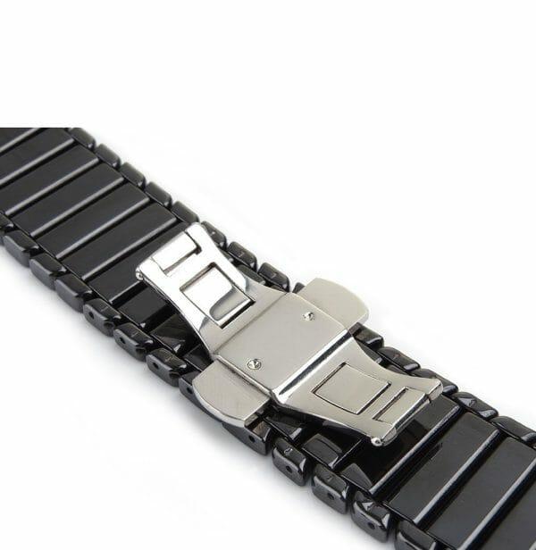 Keramische vervangend bandje voor Apple Watch iwatch Series 1-2-3 42mm zwart-005