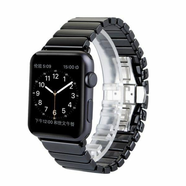 Keramische vervangend bandje voor Apple Watch iwatch Series 1-2-3 42mm zwart-007