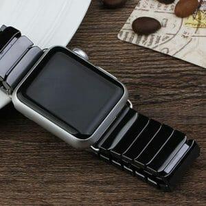 Keramische vervangend bandje voor Apple Watch iwatch Series 1-2-3 42mm zwart-010