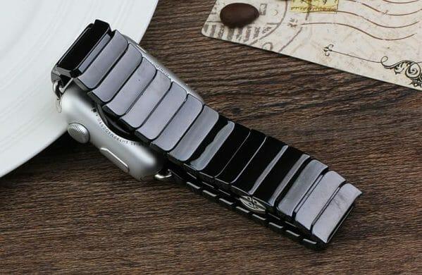 Keramische vervangend bandje voor Apple Watch iwatch Series 1-2-3 42mm zwart-011