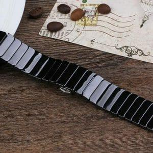 Keramische vervangend bandje voor Apple Watch iwatch Series 1-2-3 42mm zwart-013