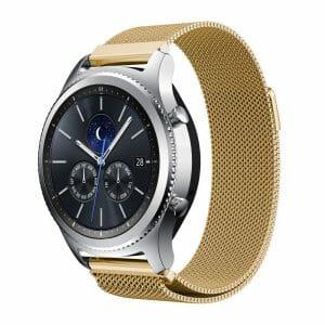Milanese Loop rvs goud bandje voor de Samsung Gear S3 S3 Frontier S3 Classic-008