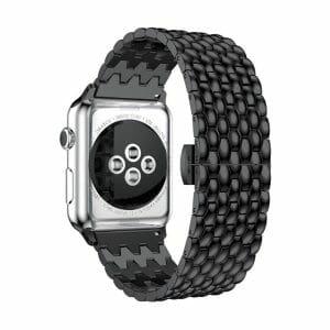 RVS zwart metalen bandje armband voor de Apple Watch iwatch-003