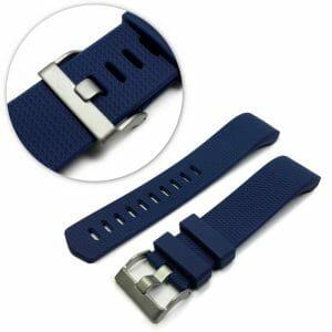 Luxe Siliconen Bandje voor FitBit Charge 2 – blauw-003