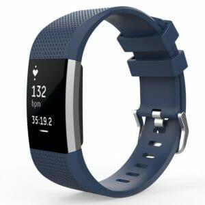 Luxe Siliconen Bandje voor FitBit Charge 2 – blauw-006