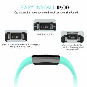 Luxe Siliconen Bandje voor FitBit Charge 2 – mint-001