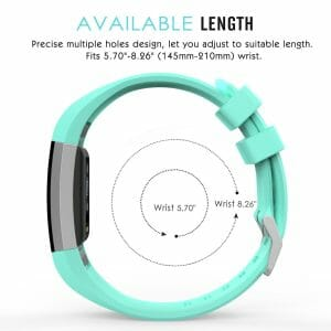 Luxe Siliconen Bandje voor FitBit Charge 2 – mint-003