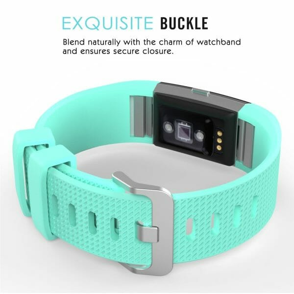 Luxe Siliconen Bandje voor FitBit Charge 2 – mint-004