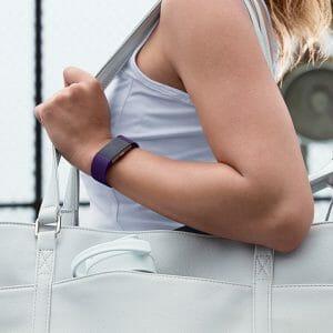 Luxe Siliconen Bandje voor FitBit Charge 2 – paars-001