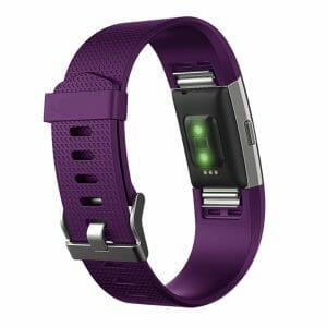 Luxe Siliconen Bandje voor FitBit Charge 2 – paars-008