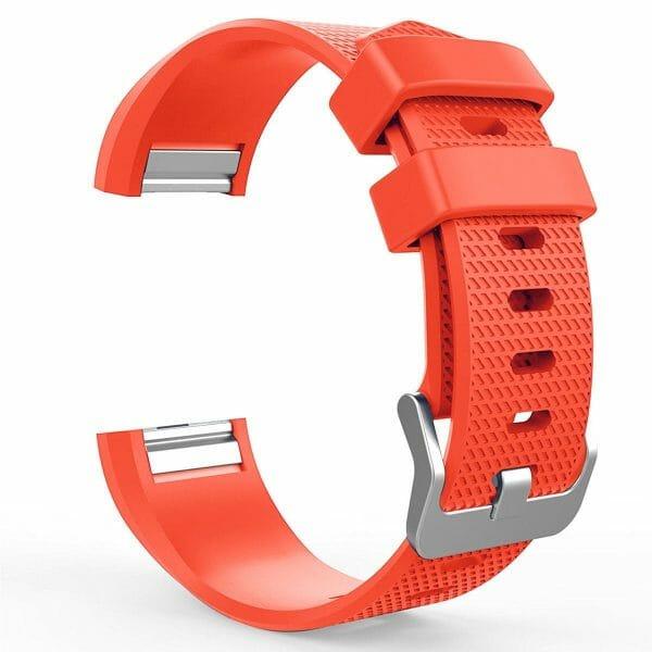 Luxe Siliconen Bandje voor FitBit Charge 2 – rood oranje-001