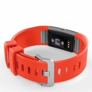 Luxe Siliconen Bandje voor FitBit Charge 2 – rood oranje-002