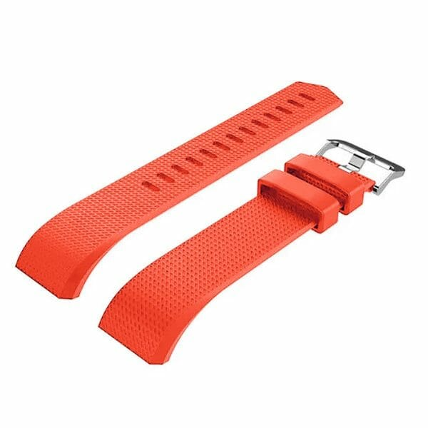 Luxe Siliconen Bandje voor FitBit Charge 2 – rood oranje-003