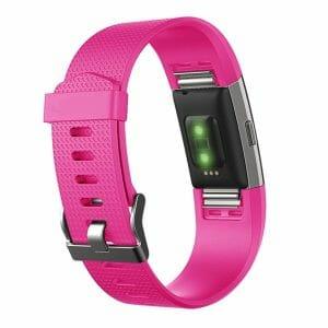 Luxe Siliconen Bandje voor FitBit Charge 2 – roze rood-007