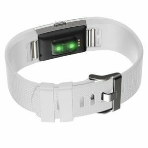 Luxe Siliconen Bandje voor FitBit Charge 2 – wit-001