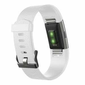 Luxe Siliconen Bandje voor FitBit Charge 2 – wit-005