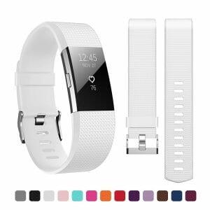 Luxe Siliconen Bandje voor FitBit Charge 2 – wit-006