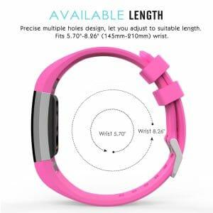 Luxe Siliconen Bandje voor FitBit Charge 2 –roze-002