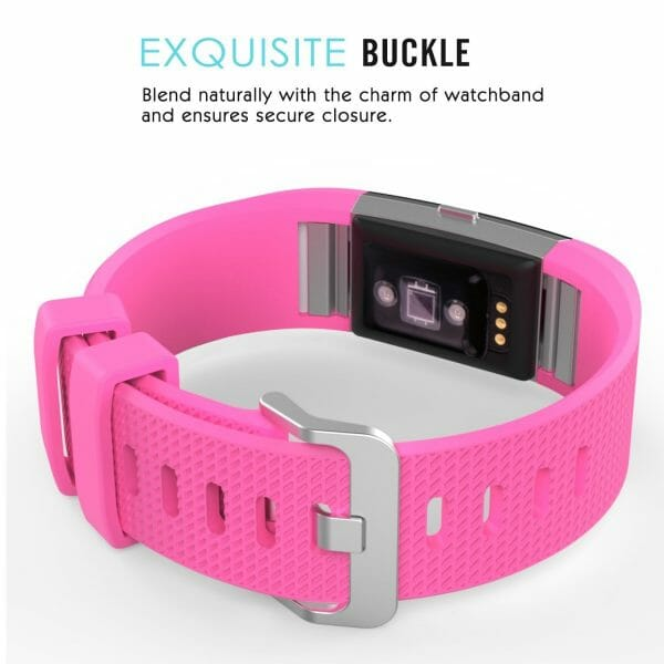 Luxe Siliconen Bandje voor FitBit Charge 2 –roze-003