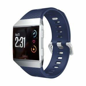 Luxe Siliconen Bandje voor FitBit Ionic – donker blauw-002