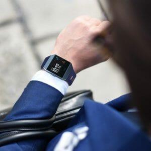 Luxe Siliconen Bandje voor FitBit Ionic – donker blauw-006