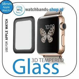 38mm full Cover 3D Tempered Glass Screen Protector For Apple watch iWatch 1 black edge-001