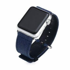 Denim bandje blauw met klassieke gesp voor Apple Watch 42mm-002