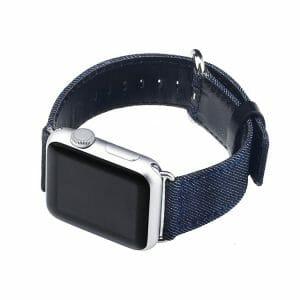 Denim bandje donkerblauw met klassieke gesp voor Apple Watch 42mm-004