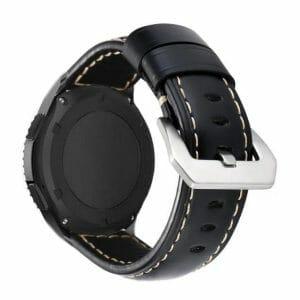 Samsung Gear S3 Leren Bandje zwart voor de Samsung Gear S3 Classic-002
