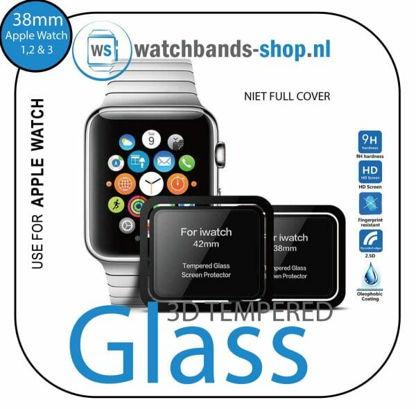 Screen-Protector-Tempered-Glass-Apple-Watch-Series-1--2--3-(38mm)---Black-edge---niet-full-cover-100