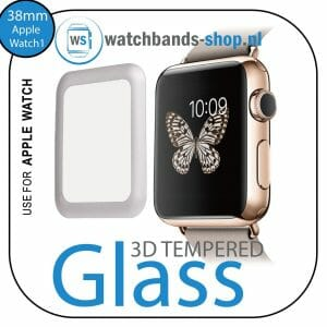 38mm full Cover 3D Tempered Glass Screen Protector For Apple watch iWatch 1 silver edge-100