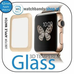 42mm full Cover 3D Tempered Glass Screen Protector For Apple watch iWatch 2 gold edge-001