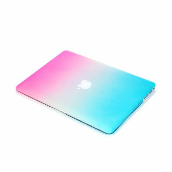Cover Rainbow case Apple MacBook Air 11 inch - blauw - roze A1465 - A1370 (2012- 2018)_001
