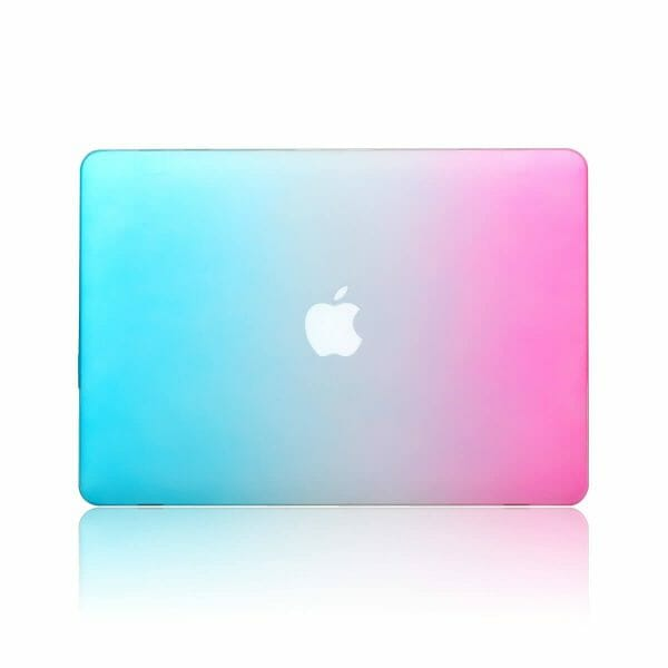 Cover Rainbow case Apple MacBook Air 11 inch - blauw - roze A1465 - A1370 (2012- 2018)_002