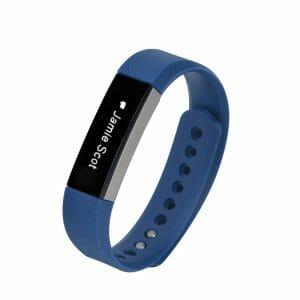 Luxe Siliconen Bandje large voor FitBit Alta – donkerblauw_002