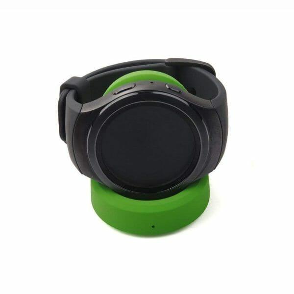 Draadloze opdader voor Samsung Gear S3 Classic – Frontier draadloos laadstation groen-001