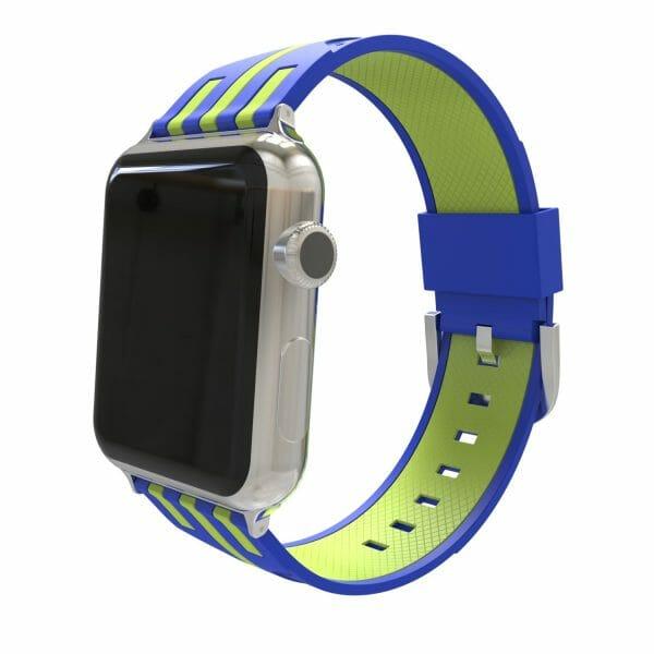 Apple watch bandje 38mm duo blauw - groen_004