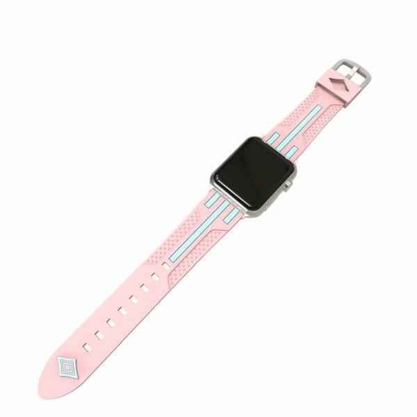 Apple watch bandje 38mm duo roze - groen_001