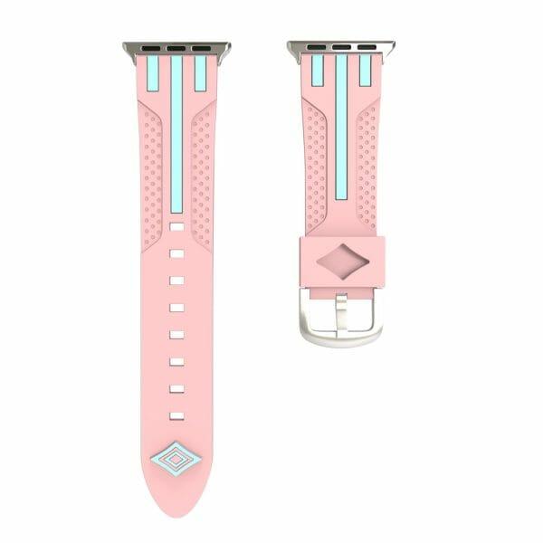 Apple watch bandje 38mm duo roze - groen_002