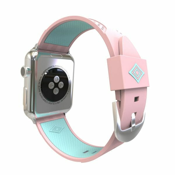 Apple watch bandje 38mm duo roze - groen_003