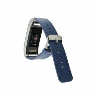 Fitbit Charge 2 bandje leer blauw_002