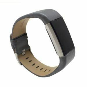 Fitbit Charge 2 bandje leer grijs_001