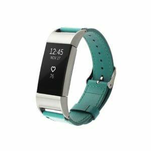 Fitbit Charge 2 bandje leer groen_002